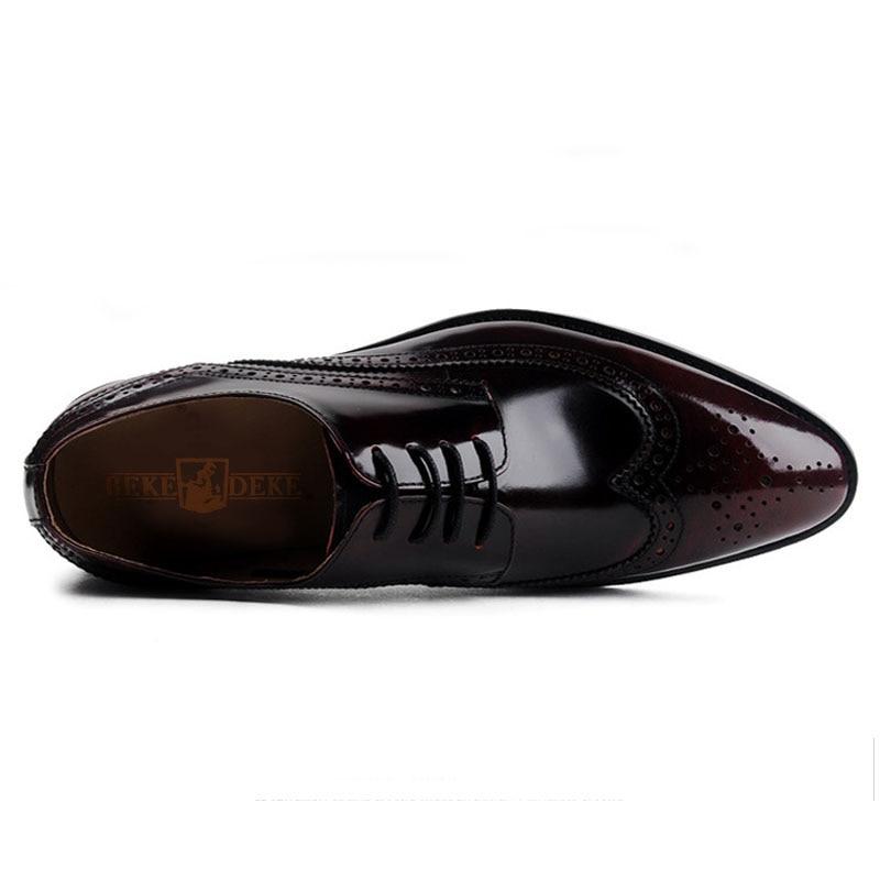 Formais Black Noiva Sapatos Homens Vestido Até Top wine Negócios Rendas Designer Red Couro Pointe Britânico De Esculpidas Brogues Estilo Respirável 8pWPq4qT