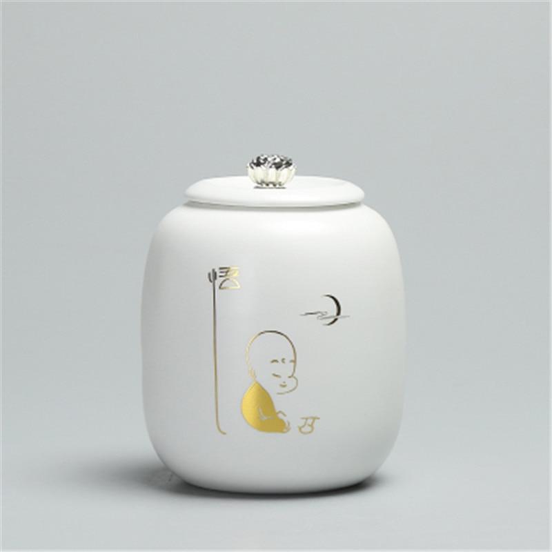 Ceramic Tea Jars Mini Tour Portable Tea Cans Ceramic Sealed Tank Puer Red And Green Tea Packing Tank Porcelain Jar Kitchen Boxes