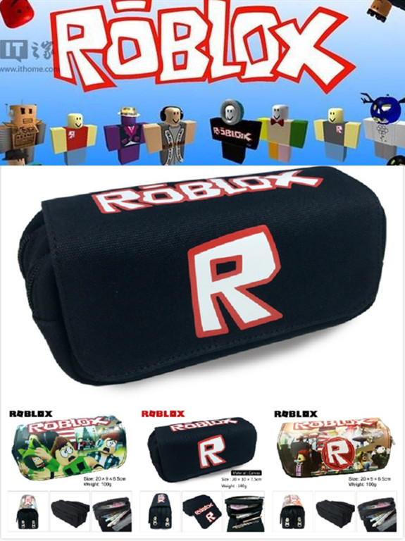 Game Roblox Pencil Bags Canvas Pen Case Kid School Cosplay Prop Gift Bag Action Figure Toy Child Gift