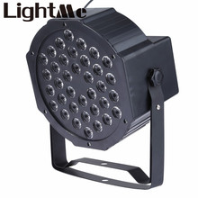 New LED Stage Lights 36W RGB PAR LED DMX Stage Lighting Effect DMX512 Master-Slave Led Flat for DJ Disco Party KTV For EU Plug