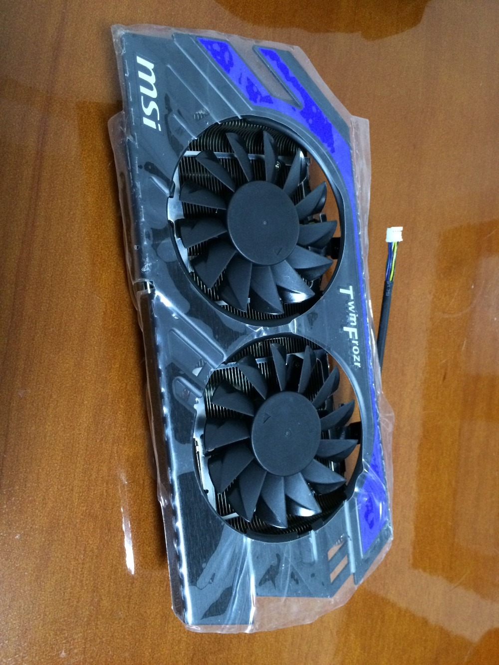 New Original MSI HD7850 GTX750Ti GTX660 R9 370 7870 graphics cooler cooling fan pitch 4.3cm TwmFrozr dobule fans