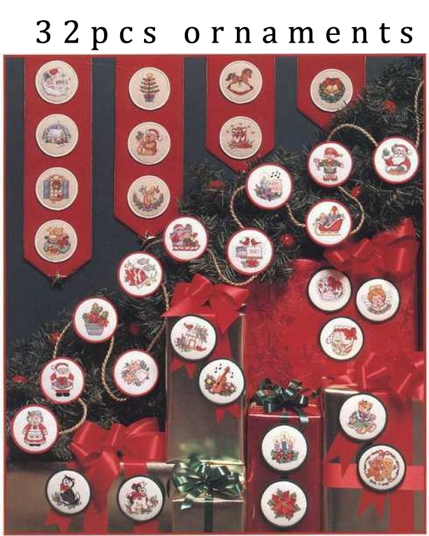 Counted Cross Stitch Kit Christmas Quickies Ornament Jingle Bell Music Santa Candle Flower Tree Ornaments Dim 00217