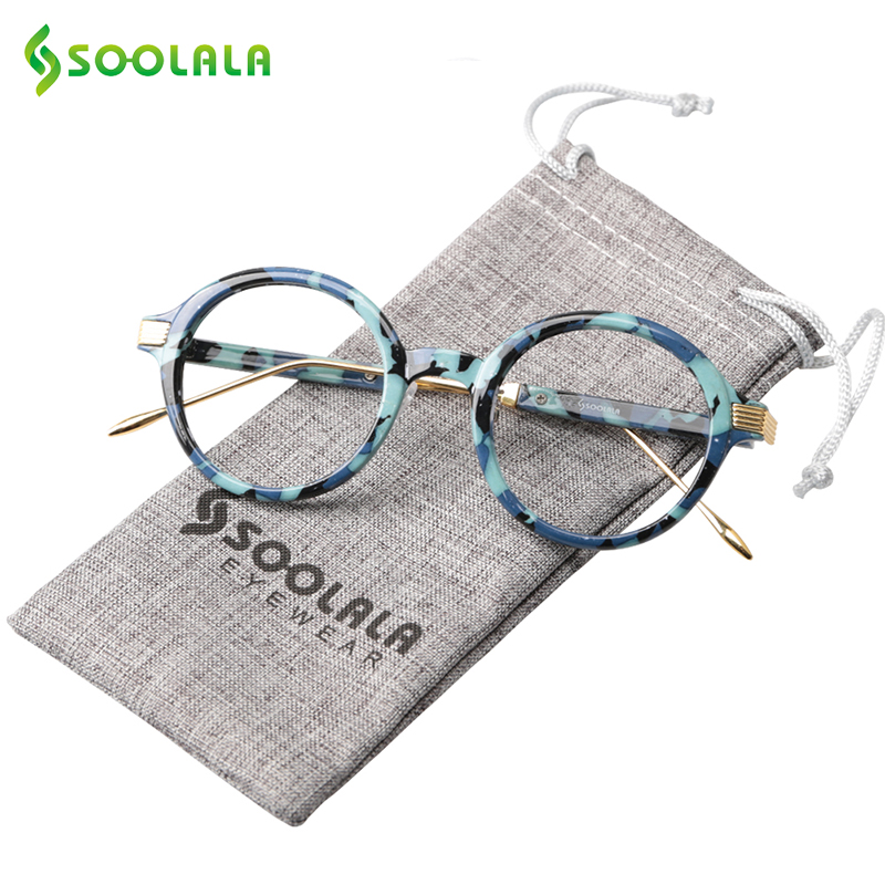 SOOLALA TR90 Round Reading Glasses Women Men Cheap Reading Glasses Clear Lens High Quality Eyeglasses Prescription +0.5 To 4.0
