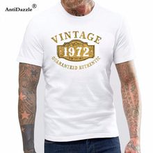 Antidazzle Print T Shirts Man Short Sleeve Tshirt 1972 Authentic 45 Years Old 45th B
