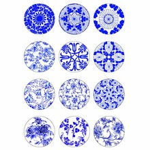 10mm 12mm 14mm 16mm 20mm 25mm 347 12pcs/lot Flower Mix Round Glass Cabochons Jewelry Findings 18mm Snap Button Charm Bracelet