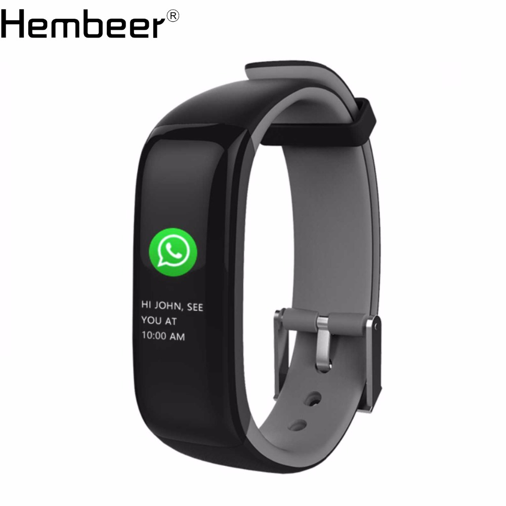 Hembeer Smart Band Farbe Bildschirm Blutdruck Monitor Armband Fitness Tracker Heart Rate Monitor Alarm Uhr pk fitbits