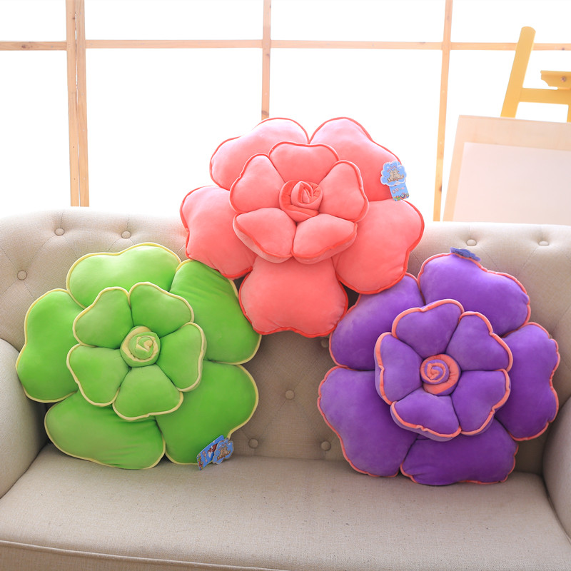55cm flower plush pillow stuffed soft plush red roses toy home soft decoration pillow and cushion gift for her letter word printing soft plush square pillow case