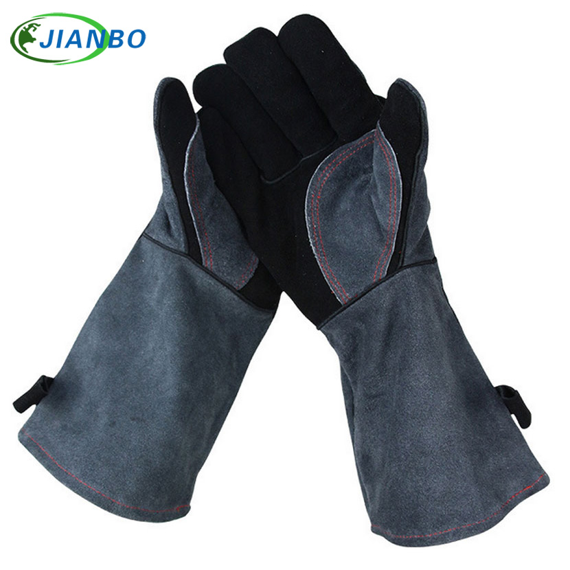 Thick Heat Resistant Kitchen Cooking Barbecue Oven BBQ Grill Glove Long Extreme Heat For Extra Forearm Protection Work Gloves