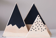 3pcs/set Volcano Decoration Snow Mountain Block Wooden Toy Model Creative Kid Room Article INS Christmas Birthday Gift Nordic