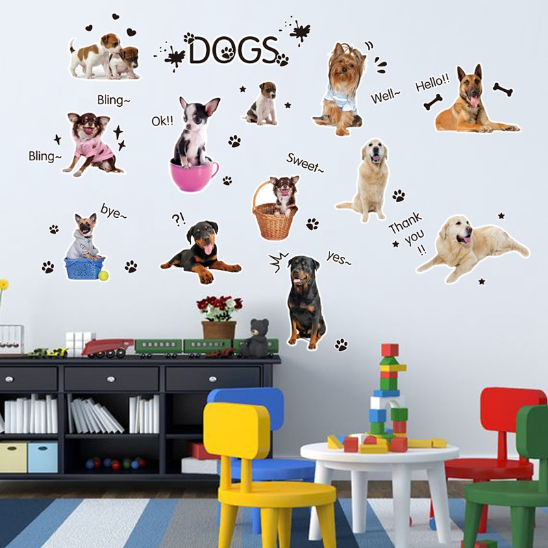 1 Set/Pack DIY 3d Vinyl Wallpaper Cartoon Children Baby Bedroom Wall Sticker Animated Wallpaper Contact Paper Removable Art Wall