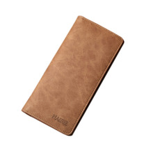 2017 Solid Color Cowhide Leather Men Long Wallets Dollar Price Oxhide Card Holder Soft Purse Male Business Casual Clutch Wallet