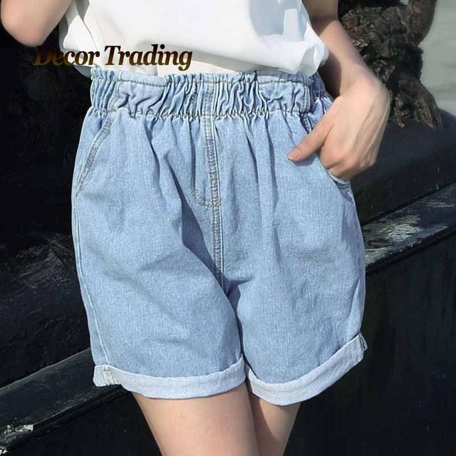 Estilo BF das Mulheres Shorts Jeans, soltas calças de Brim das Mulheres Shorts, Curta das senhoras Harem Shorts para Mulheres Meninas Plus Size S M L XL 3392