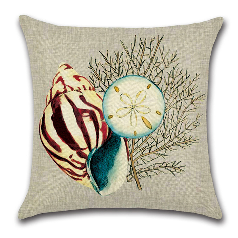 Marine Style Conch Octopus Coral Cushion Cover Throw Pillow Case Decorative  Sofa Car Chair Linen Pillow Cover Home Decor  In Cushion Cover From Home ... Awesome Design