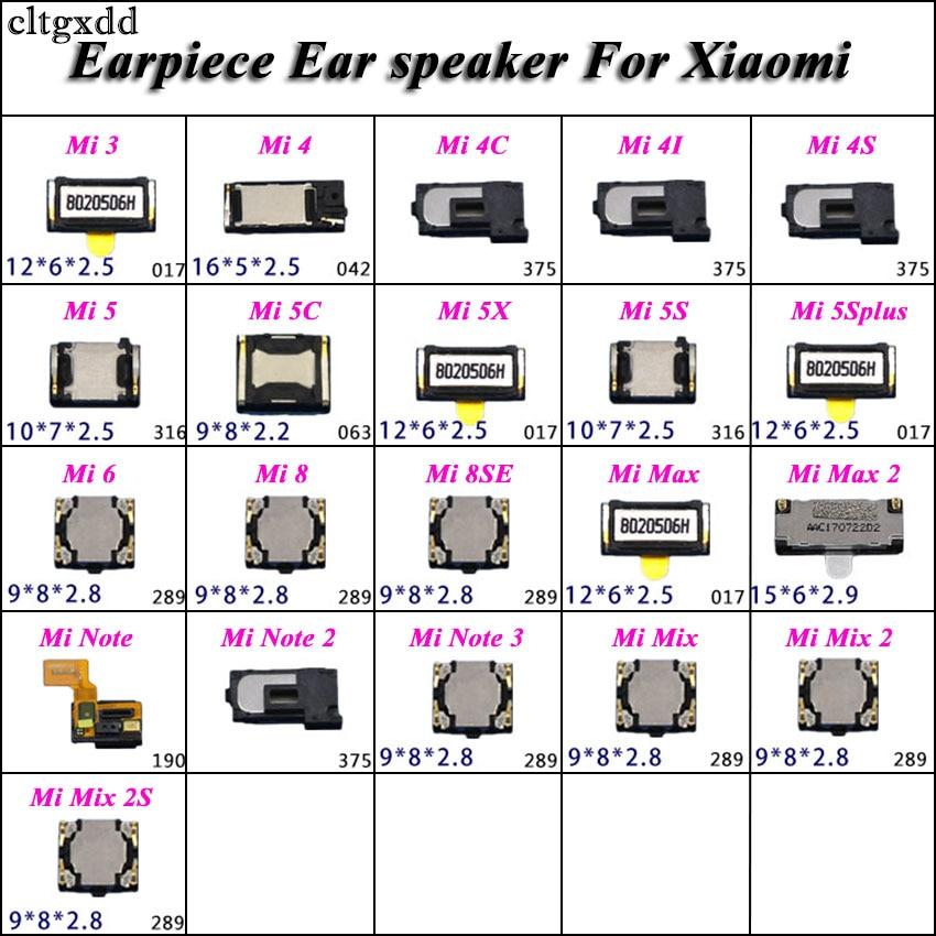 Cltgxdd 2pcs Earpiece Ear Speaker For Xiaomi Mi 3 4  4C 4I 4S 5 5C 5X 5S 5Splus 6 8 8SE Mi Note 2 3 Mix 2 2S Mi3 Mi4 Mi5 Mi6 Mi8
