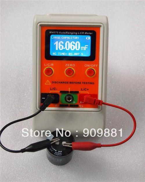 AutoRange LCR Bridge Capacitance Meter Digital Capacitance Inductance USB PC Program Large Range 100H 100mF 20MR Rechargeable