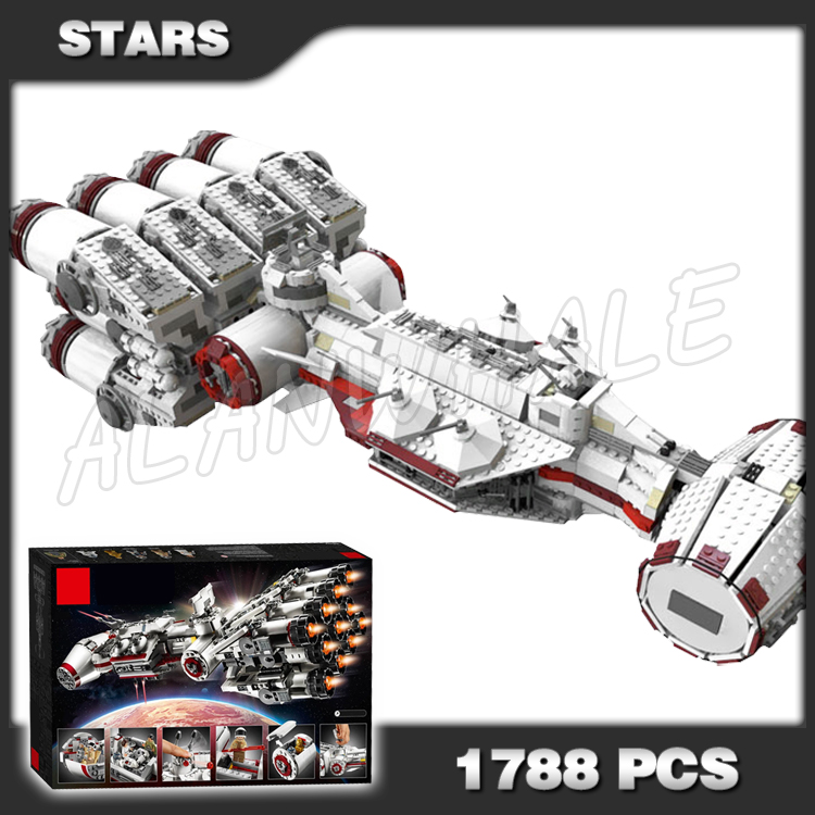 1788pcs Space Wars Ultimate Collector Tantive IV Rebel Blockade Runner <font><b>05046</b></font> Model Building Blocks Kid Game Compatible with Lego image