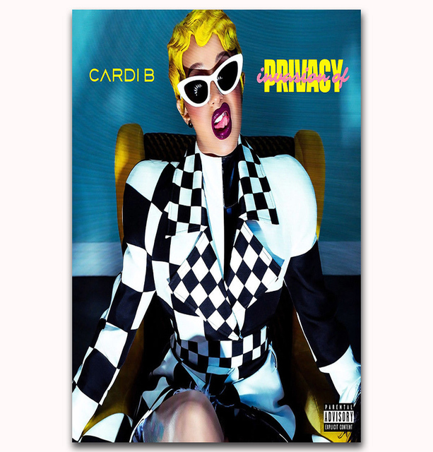 Us 5 48 7 Off Mq3602 2018 Rap Music Album New Cardi B Invasion Of Privacy Art Poster Silk Light Canvas Home Room Decor Wall Picture Printing In