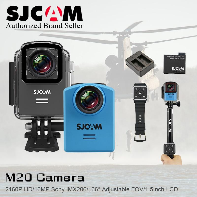Original SJCAM M20 Wifi Gyro Mini Action Sport Camera 4K 24fps NTK96660 16MP 166 Degree Adjustable Fov 30M Waterproof DV