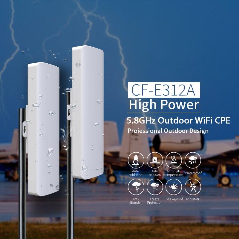 Routeur répéteur WIFI haute puissance 5.8G longue Distance 300 Mbps routeur Wifi extérieur CPE 2 * 14dBi Wifi antenne rj45 poe pont sans fil