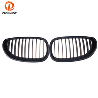 POSSBAY Matte Black Sport Wide Kidney Grille for BMW 5 Series E60 Sedan 525xi/528i/M5 2003 2010 Car Styling Front Center Grills|grill cooktop|m5 carm5 motorcycle -