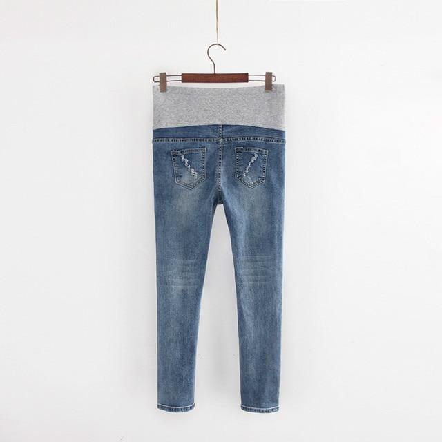 9463b9bf9 Ropa de maternidad embarazo cuidado de Invierno Multi-estilo de los  pantalones vaqueros jeans Verano