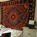 2019 fashion hippie wall hanging yoga digital printing beach towel sunscreen square shawl Vintage Indian Mandala tapestry