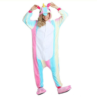 2014 Animal Blue Pink Stitch Onesie Adult Unisex Cosplay Costume Pajamas All In One Party Jumpsuit