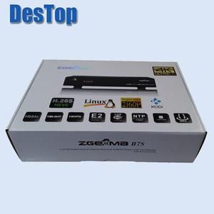 5pcs/lot 4K Linux Enigma 2 Zgemma H7S 2xDVB-S2X+DVB-T2/C HEVC H.265 4K TV satellite receiver fast 12,000 DMIPS CPU PROCESSOR