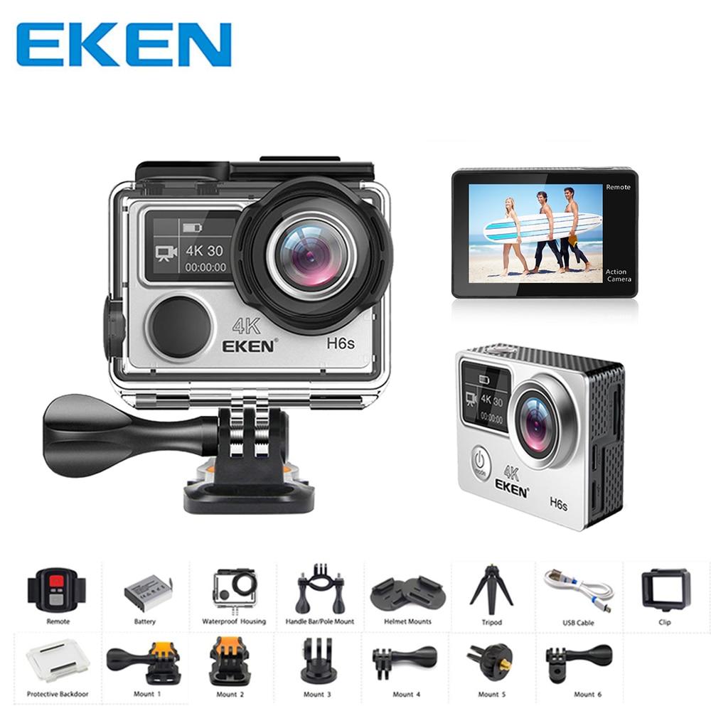Original EKEN H6S Ultra HD 4K Video Action Cam EIS Image Stabilization Ambarella A12 Chip Wifi Waterproof 14MP Mini Sport Camera цена