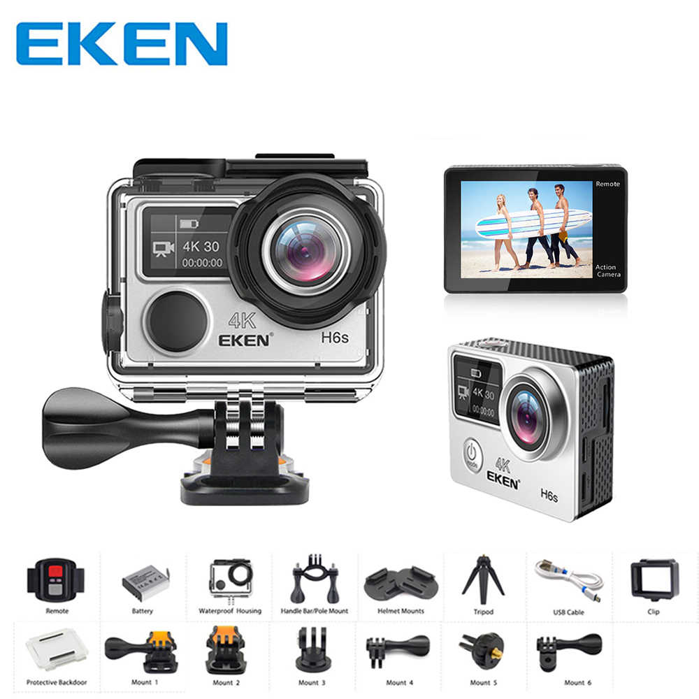 Original EKEN H6S Ultra HD 4K Video Action Cam EIS Image Stabilization  Ambarella A12 Chip Wifi Waterproof 14MP Mini Sport Camera