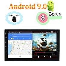 Автомобильная магнитола 2 din android 8,1/9,0 универсальная с gps-навигацией wifi зеркальная связь BT USB RDS FM карта камера