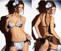 Hot Frete grátis COSPLAY roupas Empregada lingerie Sexy mulheres trajes fascinam Produtos Do Sexo brinquedo Sexy lingerie Role play