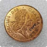 Tipo #2: 1722 copia de moneda de cobre de Irlanda monedas conmemorativas-monedas réplica medalla colección de monedas