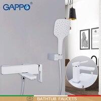 GAPPO для ванной Ванна смеситель для умывальника кран смесители для душа для ванной душ системы латунный водопроводный кран хром и белый смес