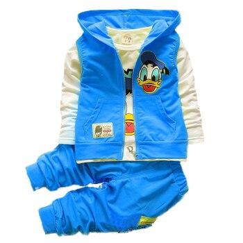 2018 dzieci wiosna jesień moda dla dzieci kreskówki dla dzieci Kamizelka okazjonalna płaszcz kurtka koszulka spodnie 3 sztuk Sport styl zestawy ubrań dla chłopców