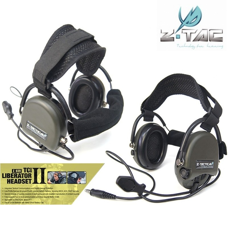 Z-Tactical TCI Liberator II Neckband Headset Military Hunting Wargame Airsoft Tactical Comtac Noise Reduction Headphone Z039 z tactical noise reduction headset comtac ipsc style tactical hunting shooting protective earphone for airsoft military radio