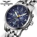 GUANQIN Casual Men Watch relogio masculino Mechanical watches men full steel waterproof business wristwatch clock montre homme