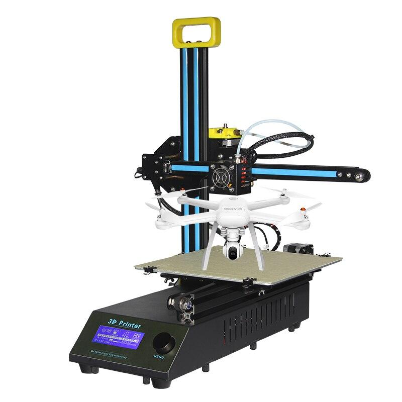 Сумасшедший большие продажи creality 3D FDM печатная CR 8 Металл V слот Рамки 3D принтеры комплект нити Поддержка принтер может добавить лазерная гра