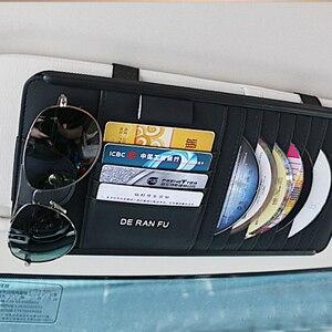 Image 4 - CD/DVD Wallet voor Auto Interieur Opslag met Card Zonnebril Houder voor BMW Zonneklep DVD Tas voor Toyota auto Origizer Vehicel