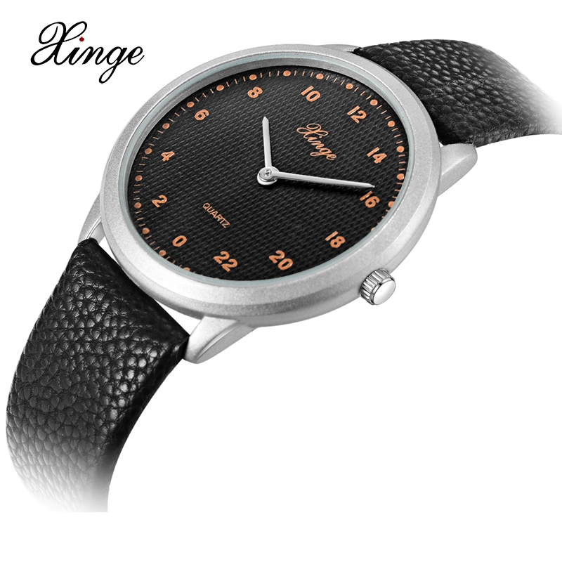 Xinge Brand 2018 New Arrival Watches Men Fashion Casual Quartz Leather Strap Simple Business Clock Silver Male Wristwatch XG1086 2017 men xinge brand business simple quartz watches luxury casual leather strap clock dress male vintage style watch xg1087
