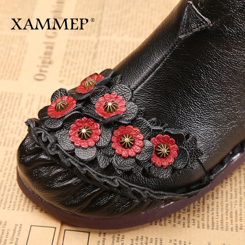 D'hiver Cheville Véritable Xammep Plate Femmes purple Marque Chaussures forme Plissée Peluche Bottes En Black Cuir qXE0xwA70