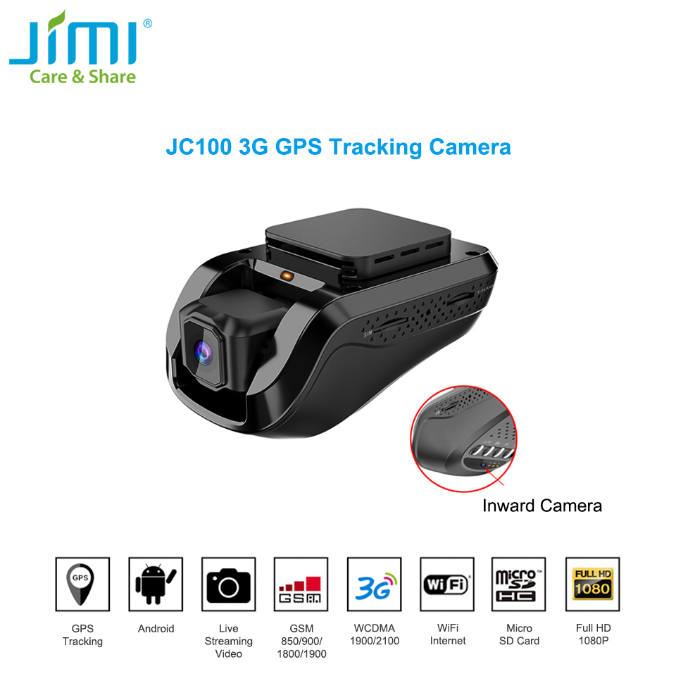 US $166 21 12% OFF|Jimi Unique JC100 3G Smart GPS Tracking Dash Camera Car  Live Stream Video Recorder & Monitoring by PC Free Mobile APP-in DVR/Dash