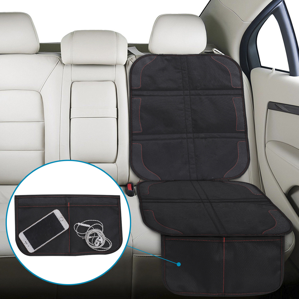 126 48cm Oxford Cotton Luxury Leather Car Seat Protector Mats Pads for Seats Protection  Car Baby Kids Wear Kick Pad Protective