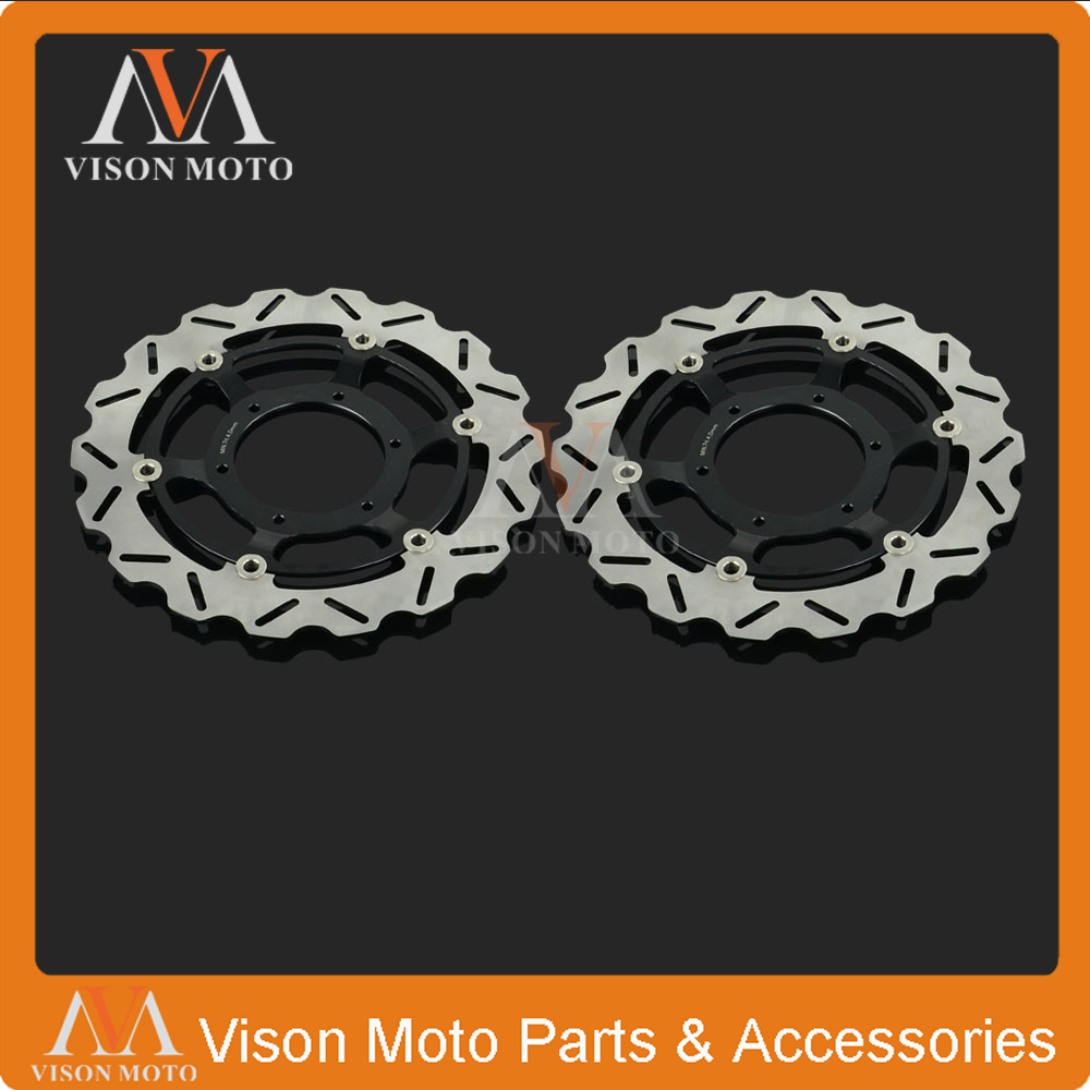 2PCS Front Floating Brake Disc Rotor For Honda CBR600 F4I F4 01-07 CBR600F 01-02 CB900F CB919F Hornet 02-07 VTX1800 02-11 gillette gillette пена для бритья gillette series sensitive skin для чувствительной кожи 250 мл