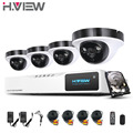 8Channel AHD DVR Kit 1080P CCTV System 4pcs 2.0MP 1080P AHD Camera 2 Array LEDs Outdoor Indoor HDMI CCTV Camera System 1TB