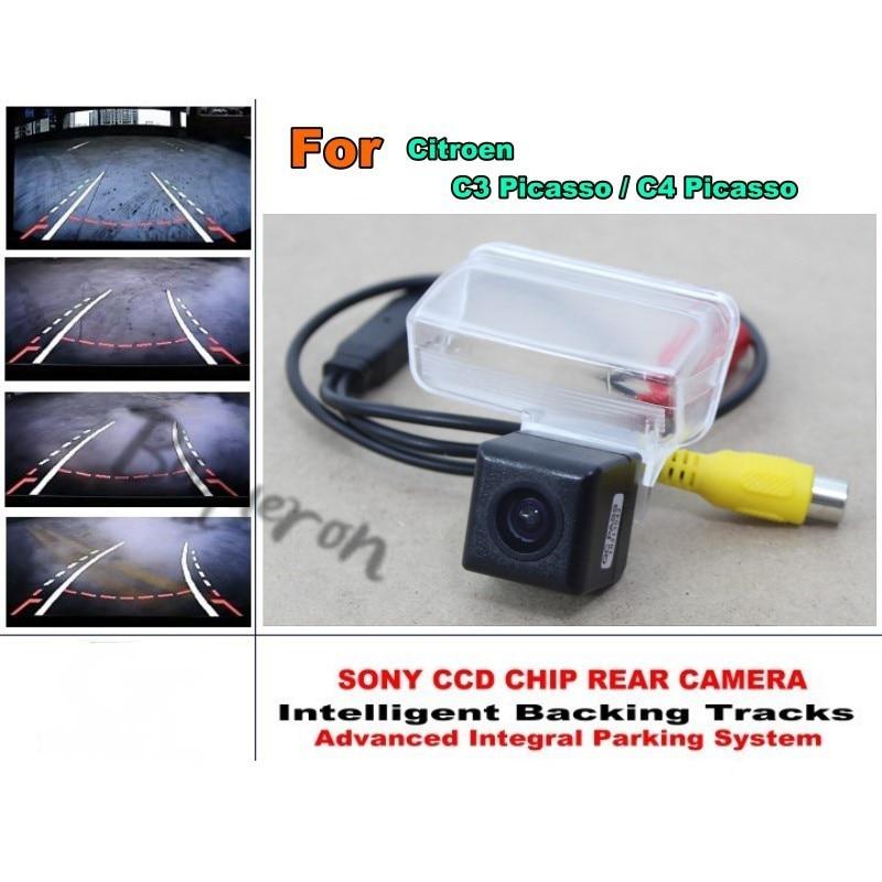 Pour citroën C3 Picasso/C4 Picasso caméra de stationnement de voiture intelligente/avec Module de pistes caméra arrière CCD Vision nocturne