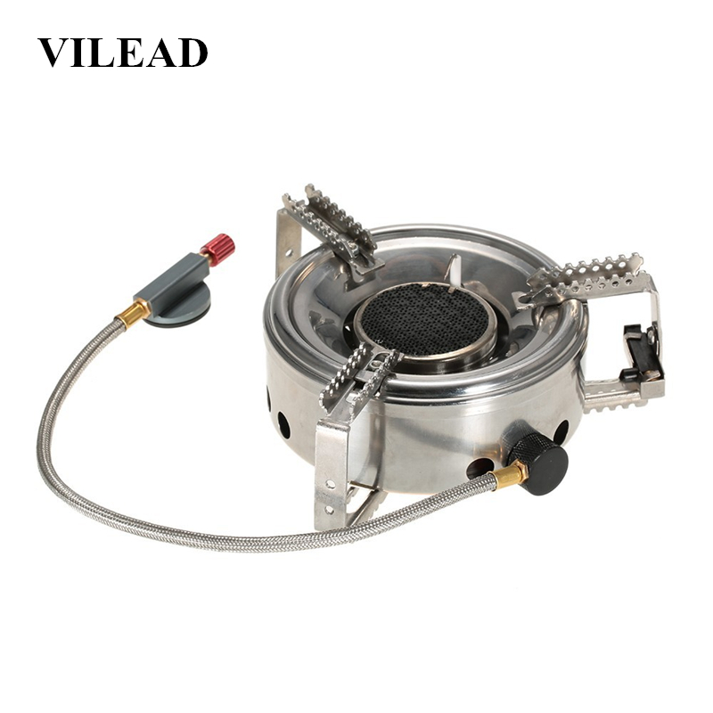 VILEAD 180x50 MM Split Infrared Strong Windproof Stove Outdoor Gas Stove Portable Tourist Camping Hiking Picnic
