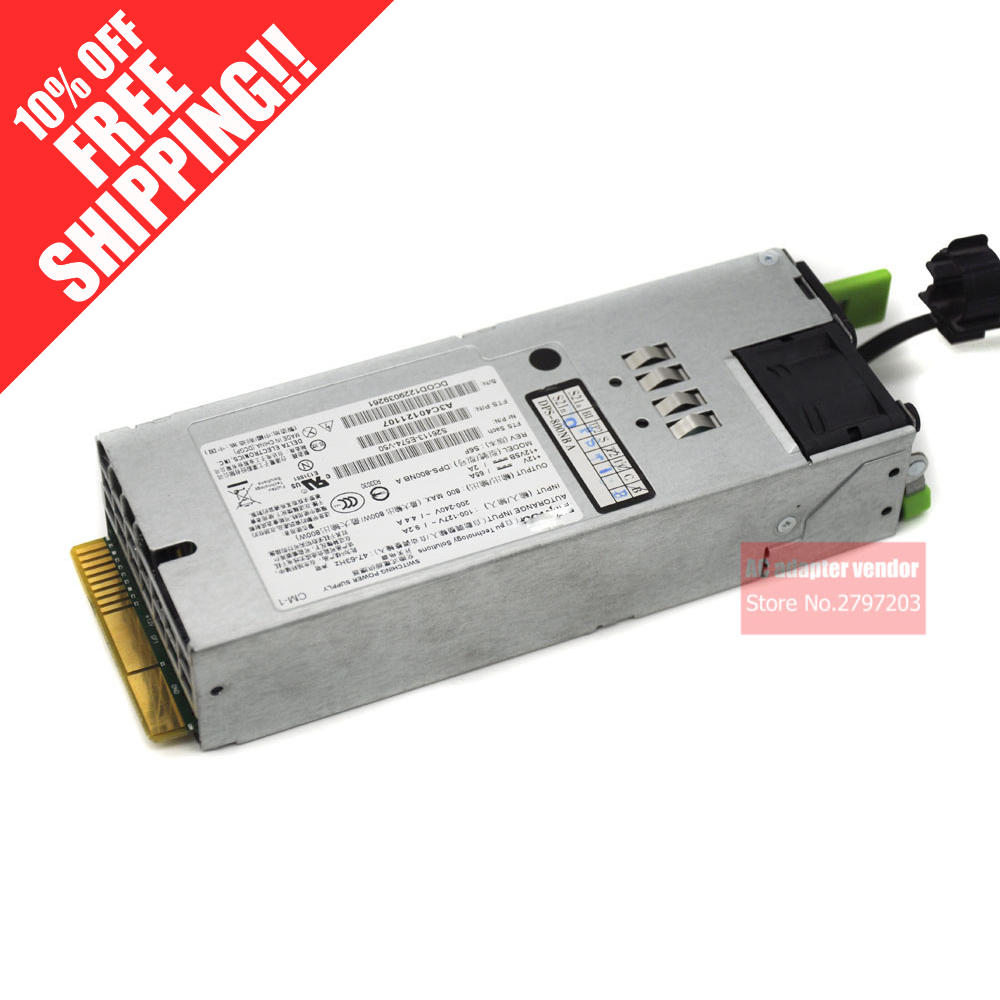 FOR Fujitsu DPS 800NB A S26113 E574 V50 X79 RX200 S7 RX300 S7 SERVER REDUNDANT POWER SUPPLY 800W