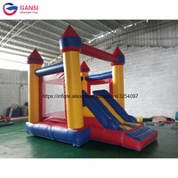 0.55MM PVC tarpaulin new design Inflatable bouncer house jumping castle house with slide