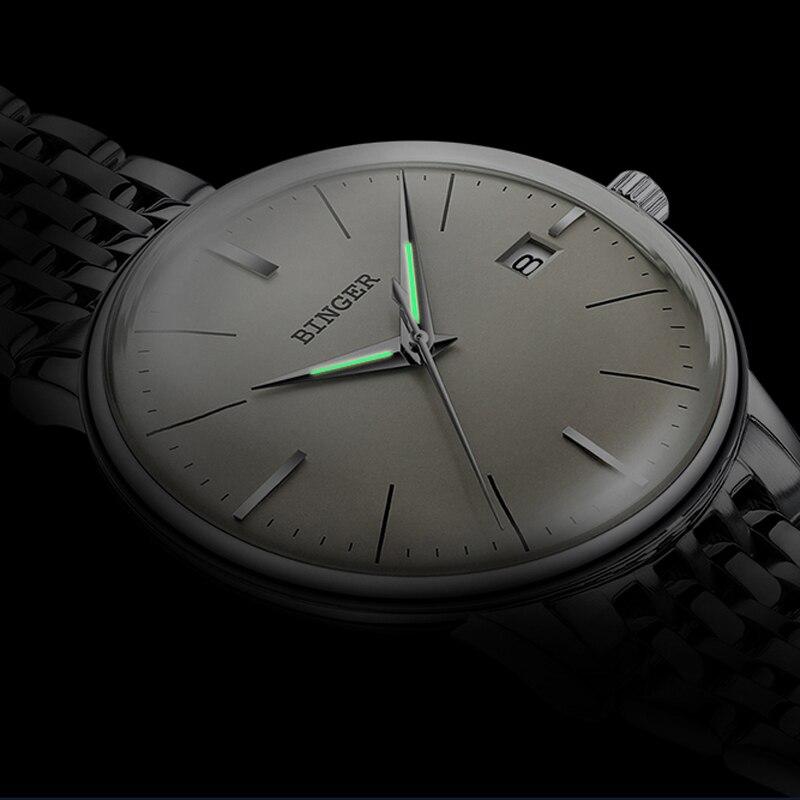 Saatler'ten Mekanik Saatler'de Isviçre BINGER Safir kol saati Erkek Su Geçirmez Mekanik Saat Erkekler Marka Lüks erkek Otomatik Saatler Reloj Hombre'da  Grup 1